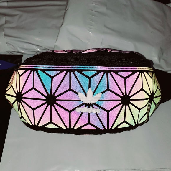 Adidas holographic fanny pack waist bag